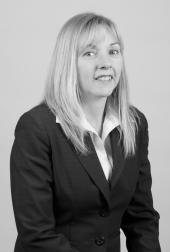Black and white headshot of Leanne W. Zabudsky